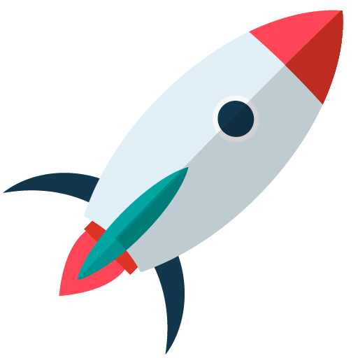 Pop up icon rocket